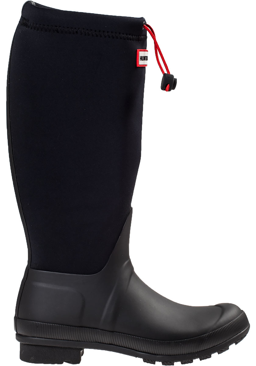 Lyst - Hunter Original Tour Rain Boot Black Fabric In Black
