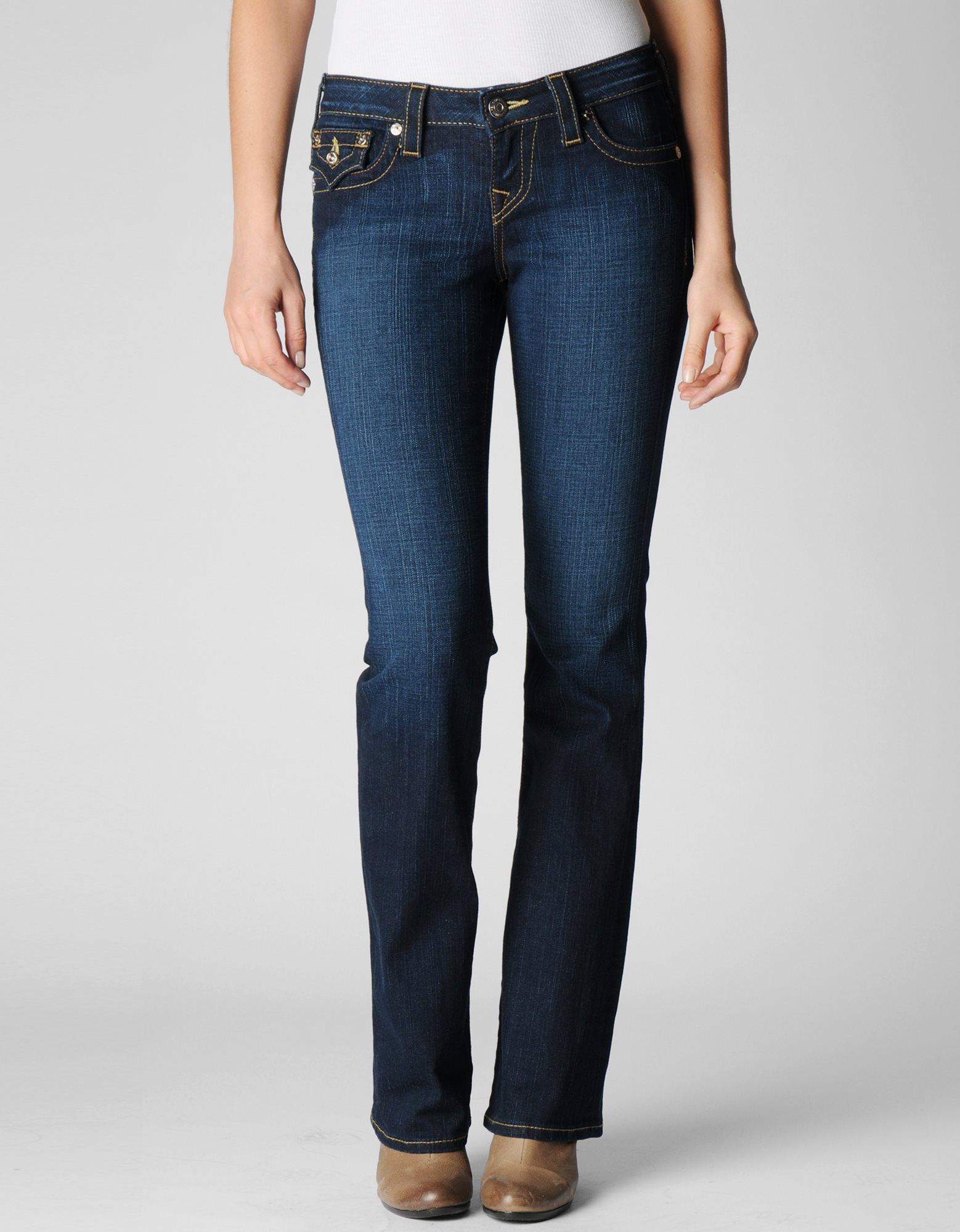 true religion womens petite lonestar becky jeans in blue. Black Bedroom Furniture Sets. Home Design Ideas