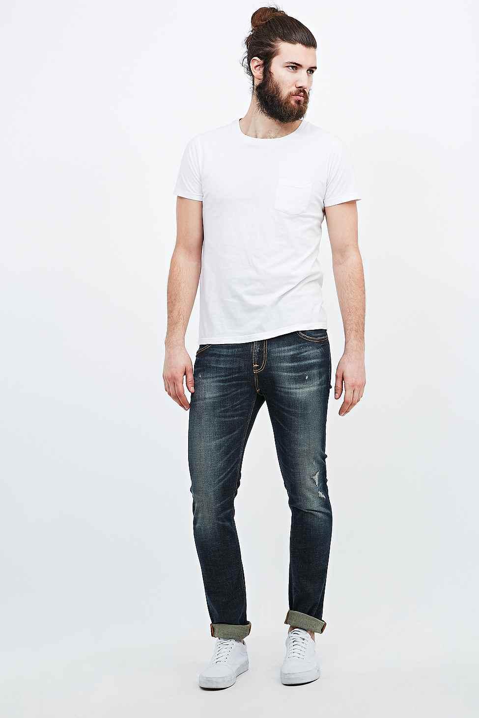 Nudie Jeans Tube Tom Jimmy Replica Jeans in Indigo (Blue) for Men