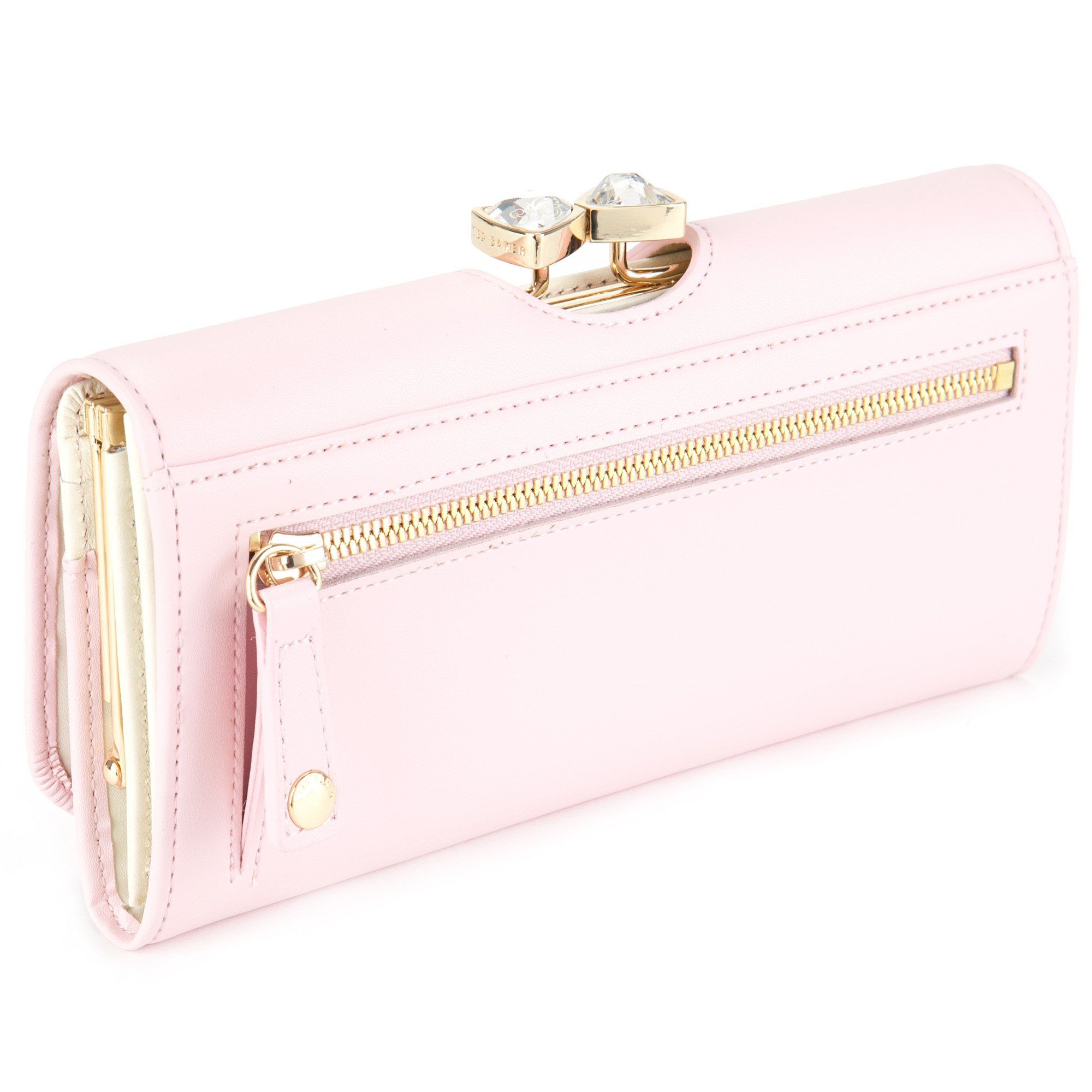 64d1c39ef91543 Ted Baker Caleena Jewelled Bow Leather Matinee Purse in Pink - Lyst