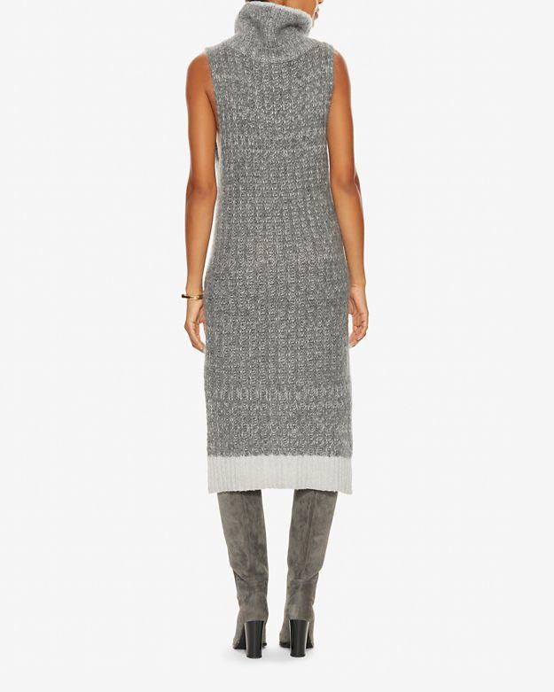 cc7295cb09b Lyst - Rag   Bone Makenna Turtleneck Sweater Dress in Gray