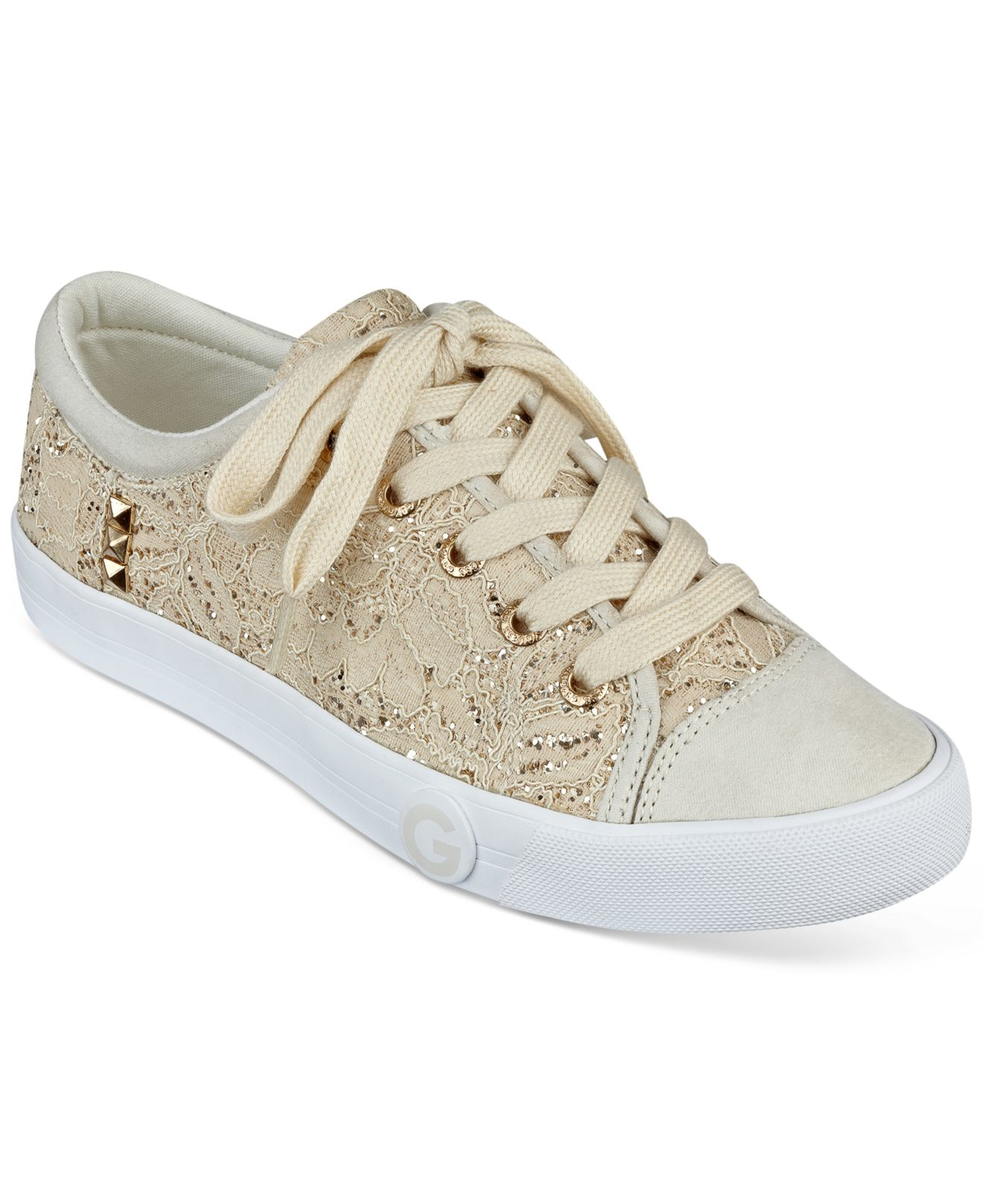 G by Guess Oona Sneakers in Gold Lace