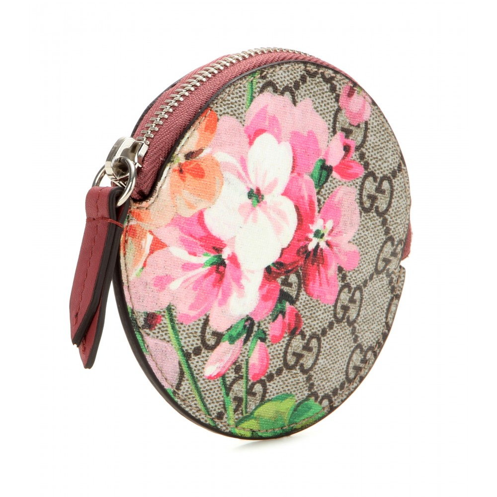 a95ea98f5ac Gucci Gg Blooms Coated Canvas And Leather Coin Purse Lyst