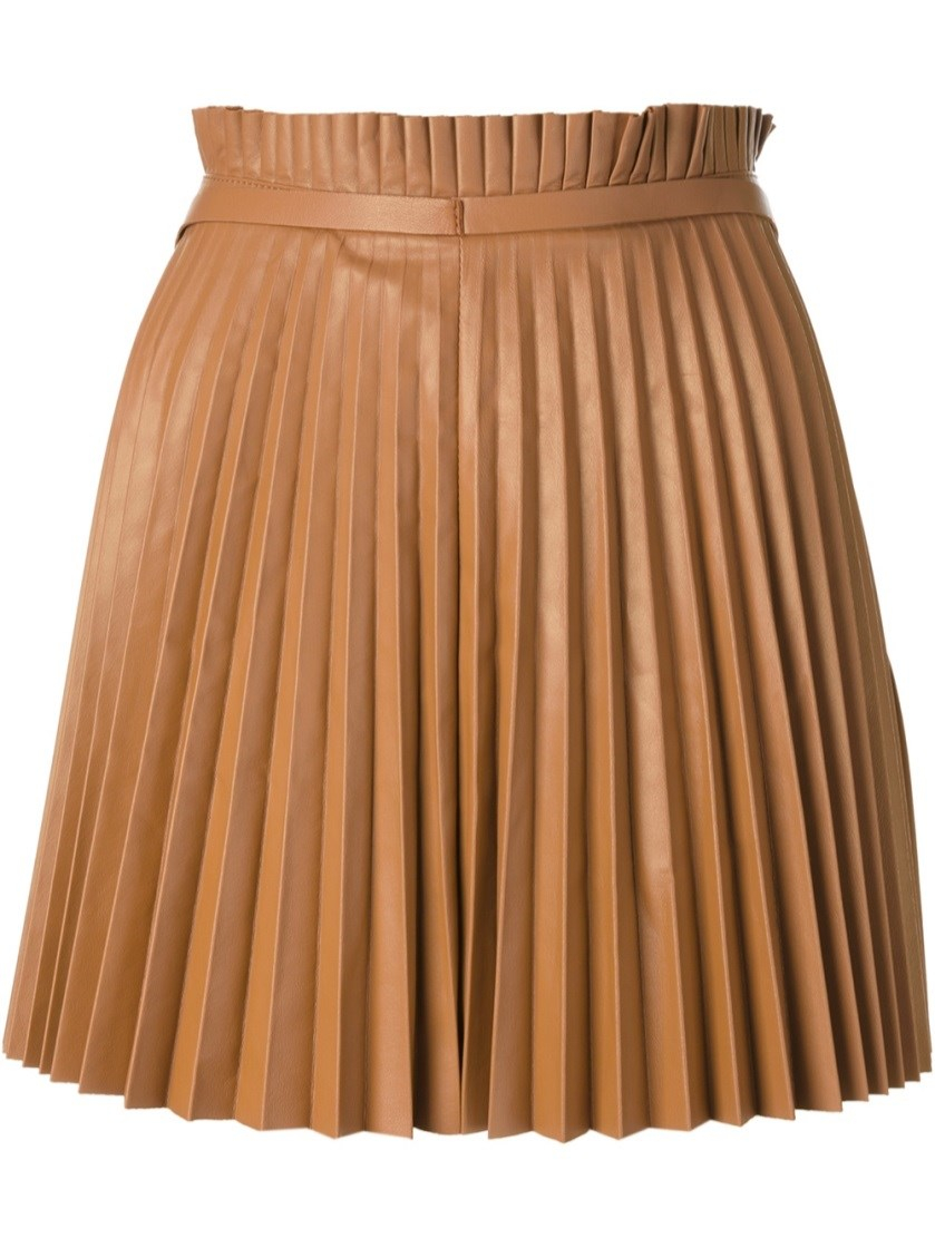 valentino pleated skirt in brown beige lyst