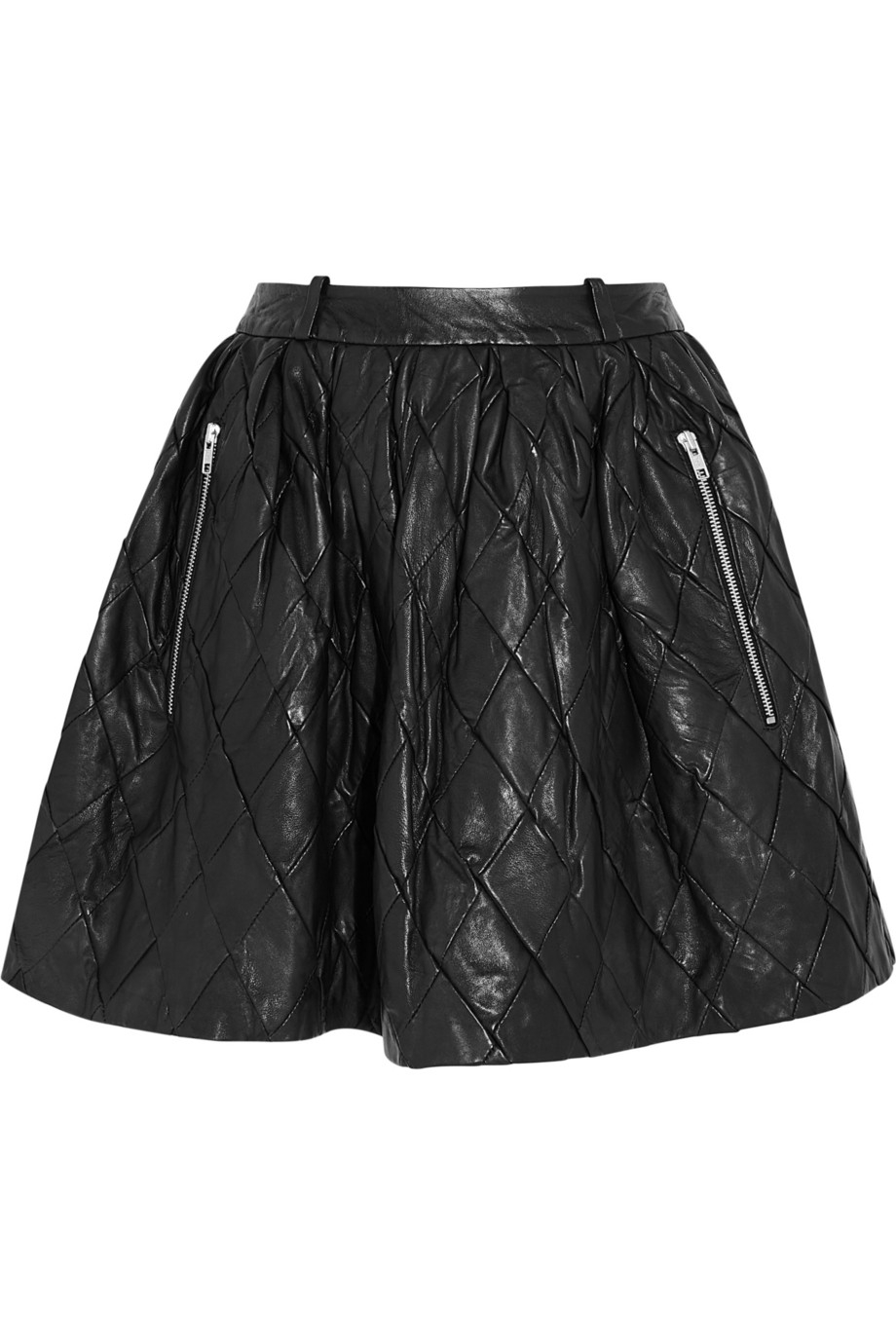 7c3f223c68 Preen Line Iris Quilted Leather Mini Skirt in Black - Lyst