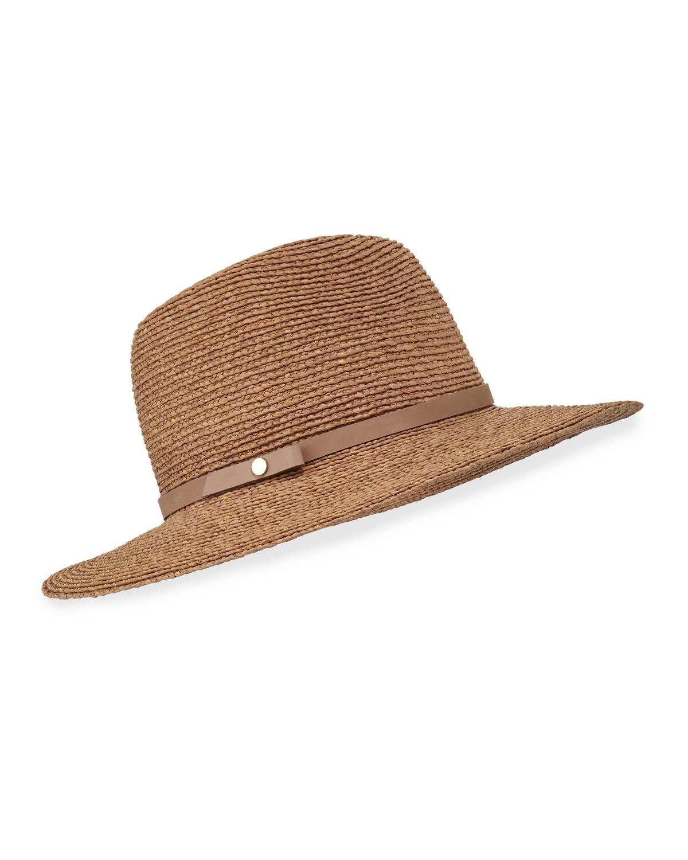 6dae076e898f Lyst - Helen Kaminski Hina Raffia Fedora Hat in Brown