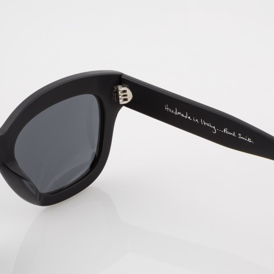 Paul Smith Semi-matte Onyx And Grey 'dennett' Sunglasses in Black