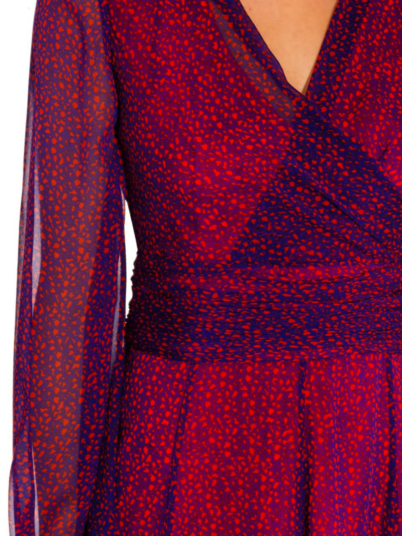 Diane von Furstenberg Ashlynn Dress in Red Print (Red)