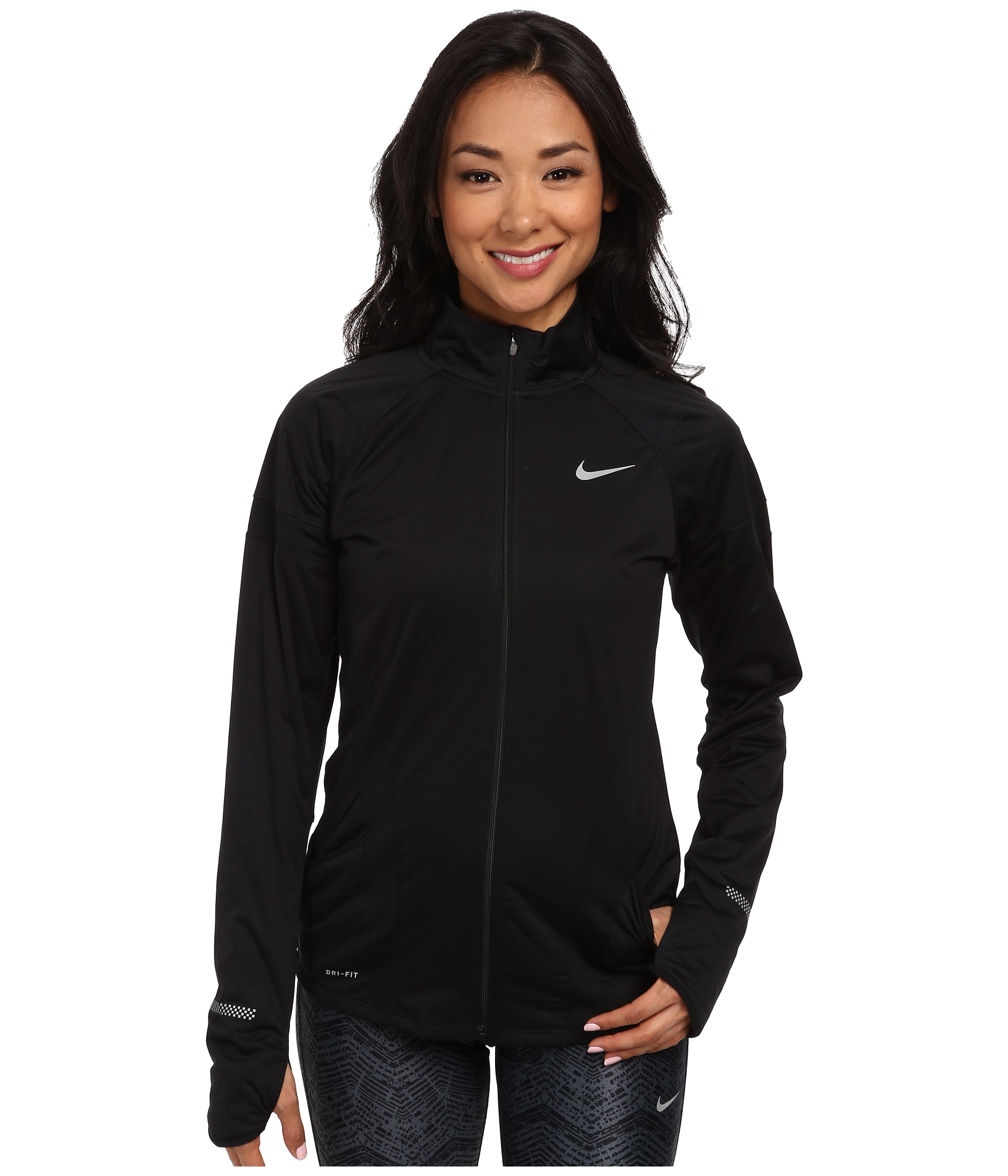 e01b59053ab07 Lyst - Nike Element Shield Full-Zip Jacket in Black