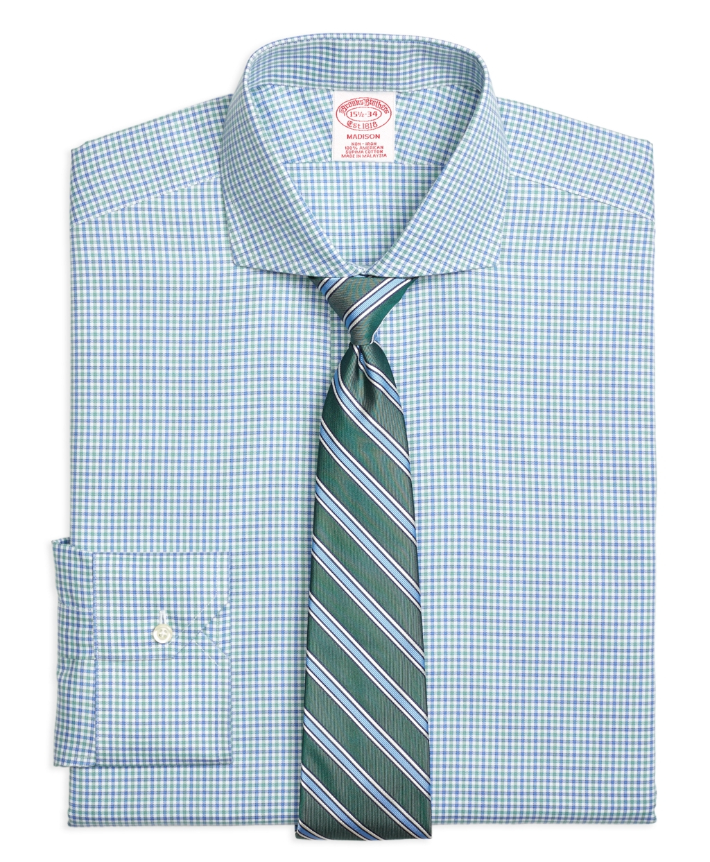 Brooks Brothers Non Iron Madison Fit Micro Framed Gingham