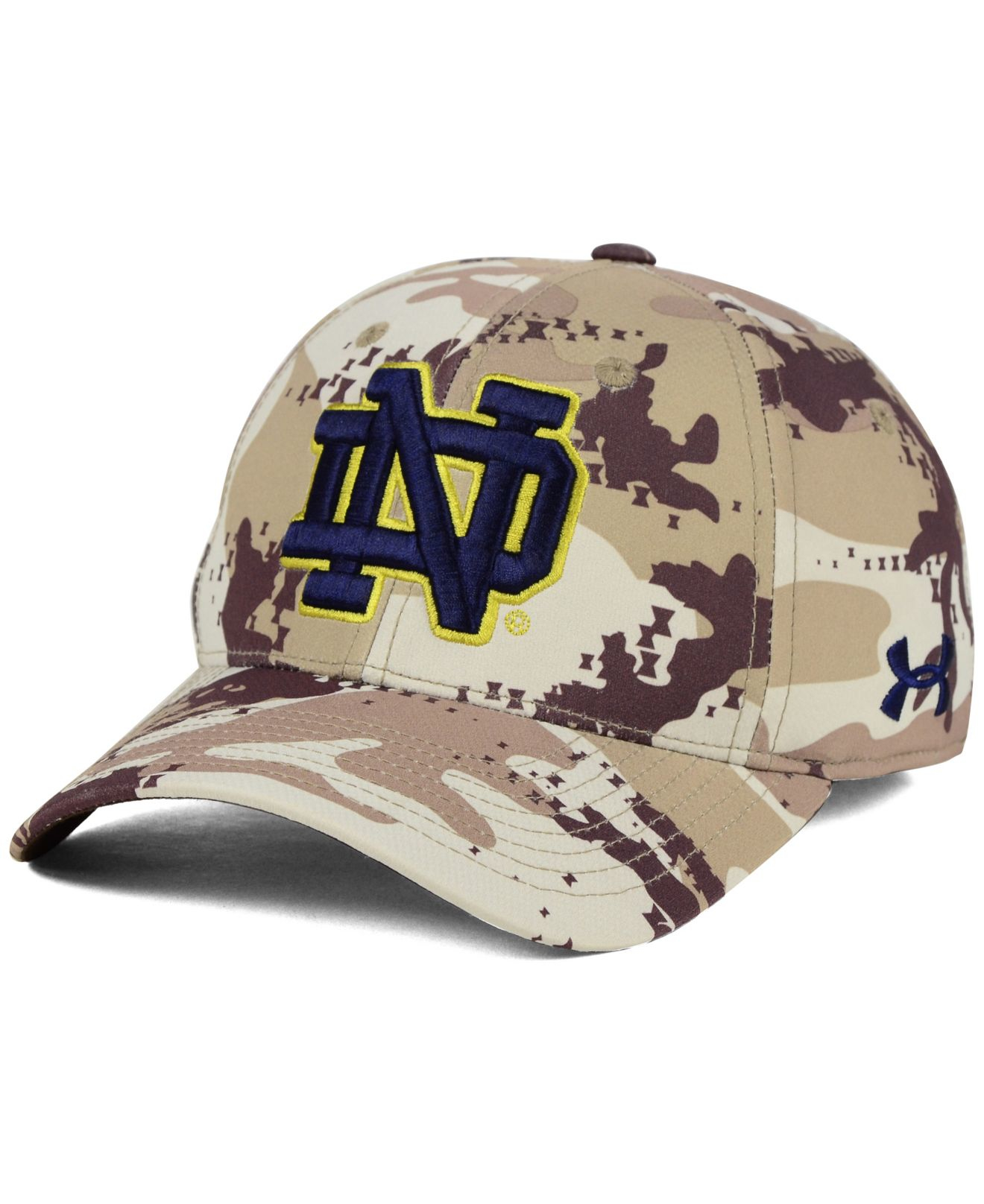 separation shoes 998eb 760c4 uk lyst under armour notre dame fighting irish camo stretch cap in 8789b  a66c8