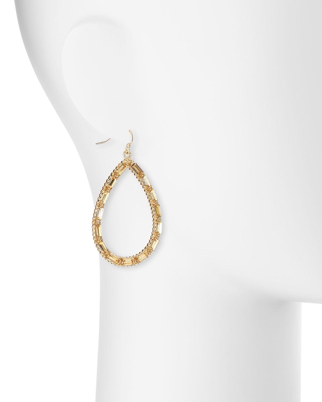 Fragments Crystal Teardrop Earrings QgFuib1hid