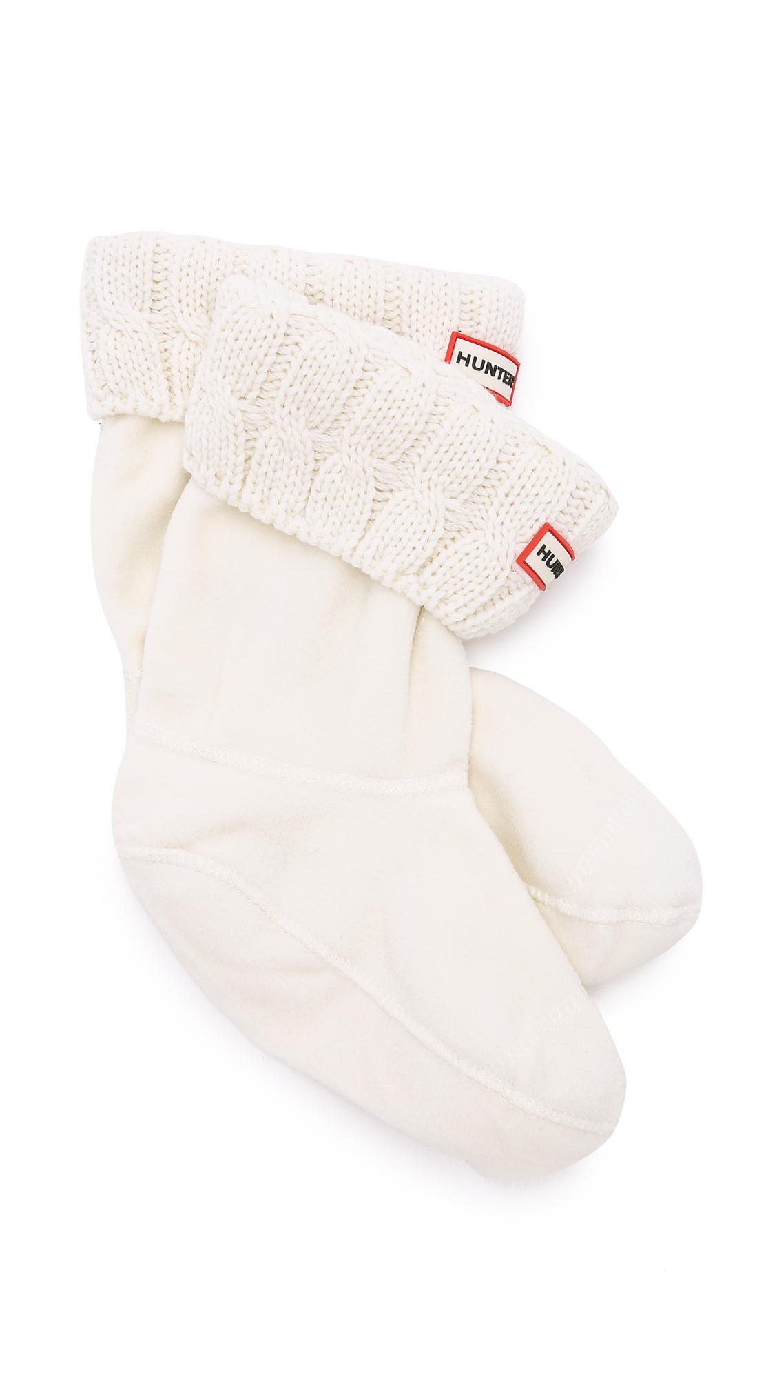 Hunter Fleece Cable Short Boot Socks Lyst