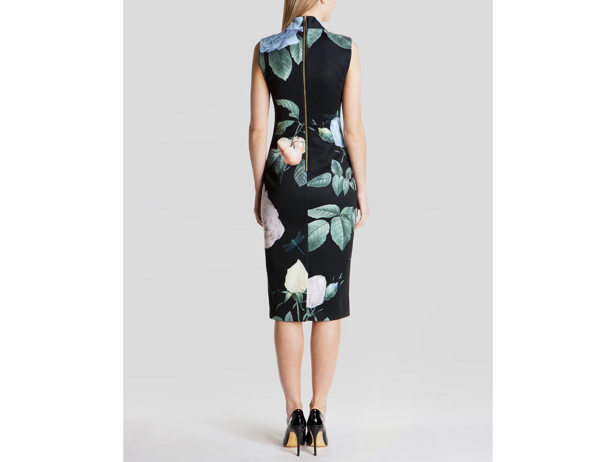 0cc528ab9360f Lyst - Ted Baker Dress - Ravina Distinguished Rose in Black