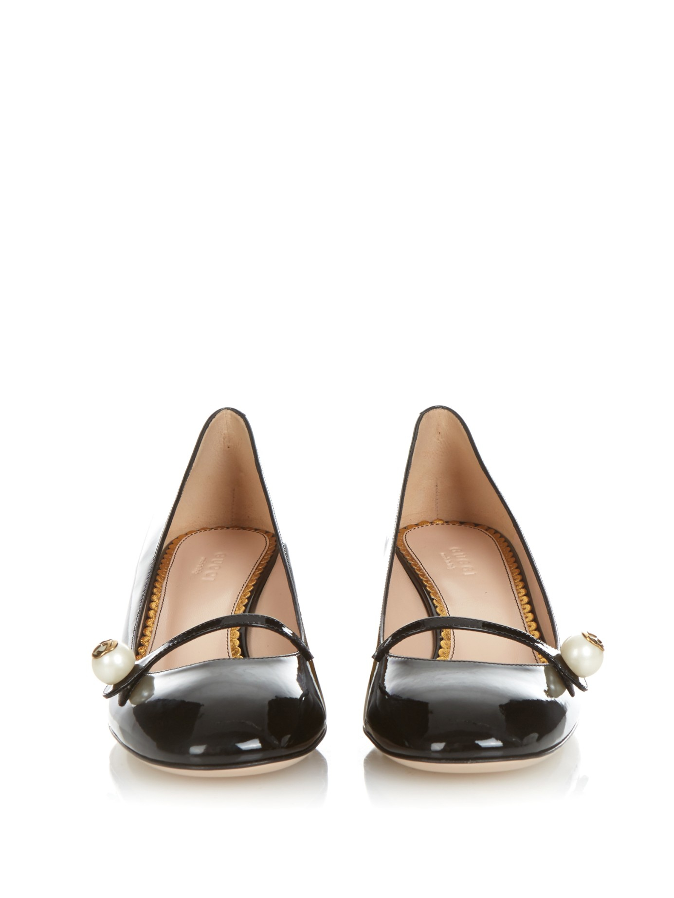 f9514529b Gucci Arielle Patent-leather Pumps in Black - Lyst
