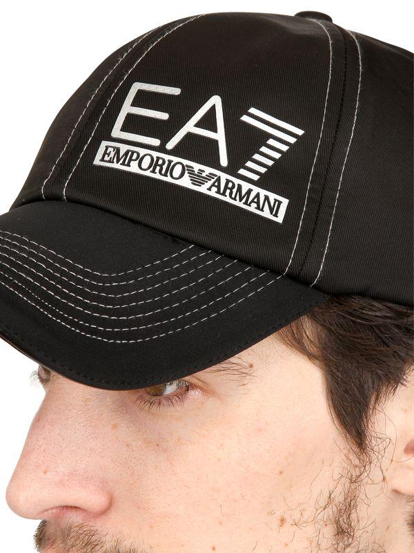 Lyst - Emporio Armani Nylon Baseball Cap in Black for Men 4e5701cf60a