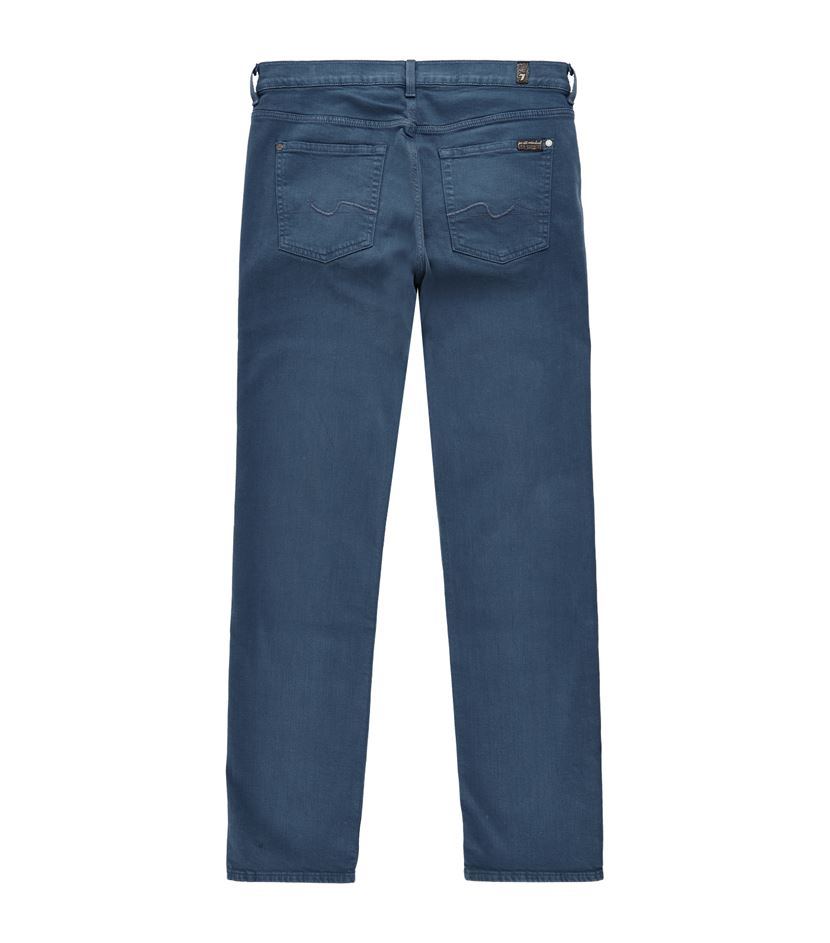 for all mankind slimmy luxe performance jeans in blue for men lyst. Black Bedroom Furniture Sets. Home Design Ideas