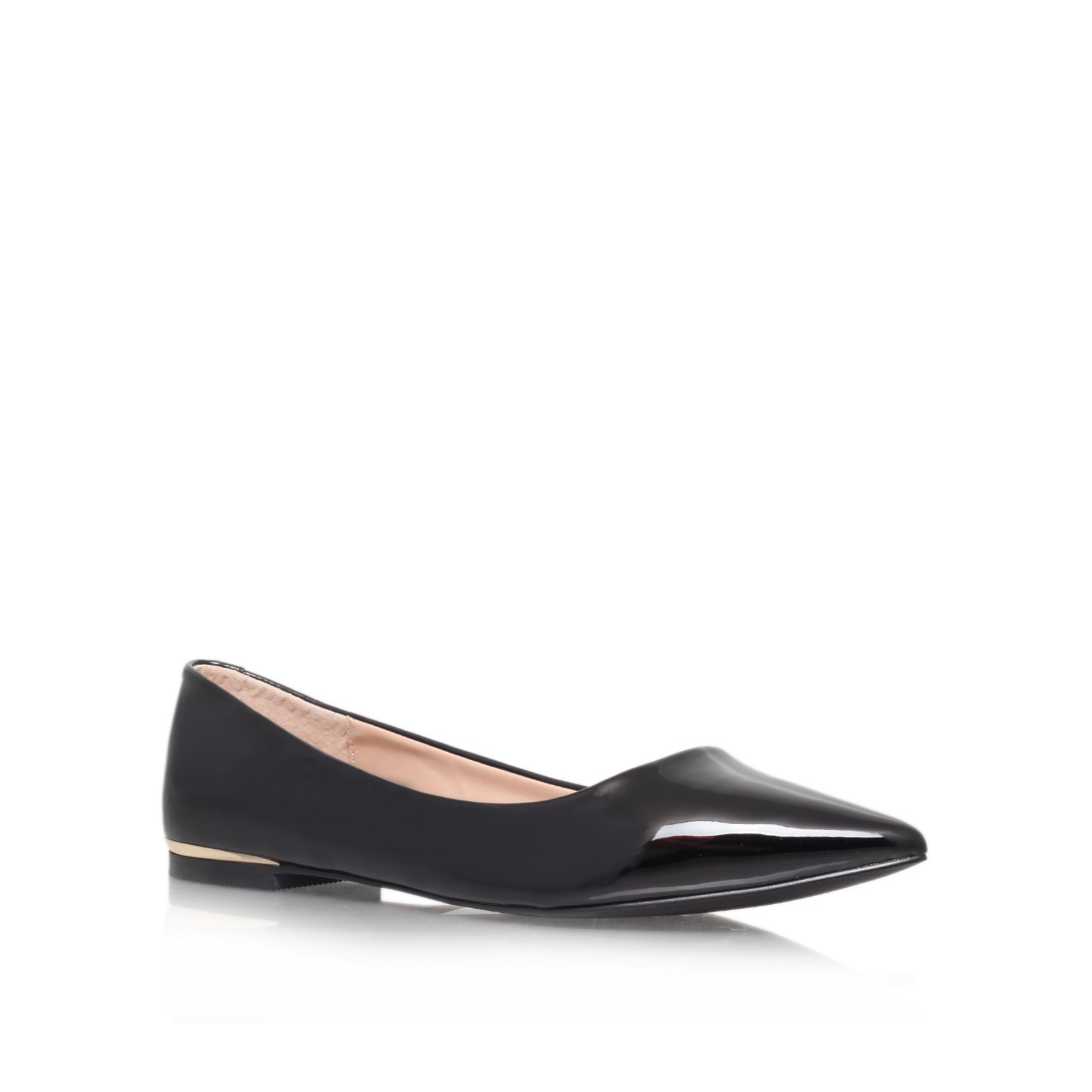 carvela kurt geiger minnie flat court shoes in black lyst