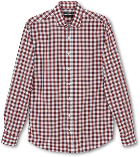 Mango Gingham Slim Fit Long Sleeve Button Down Shirt In