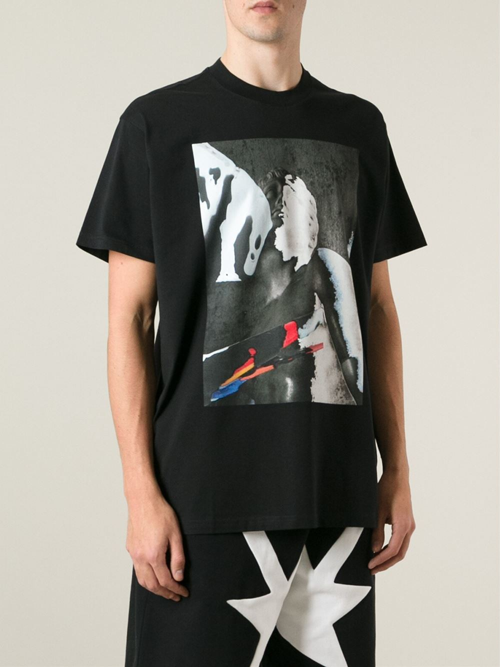 Givenchy Abstract Print T Shirt In Multicolor For Men