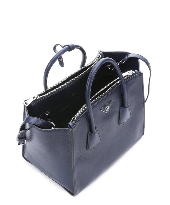 Prada Baltic Blue Calfskin Convertible Trapeze Bag in Blue (baltic ... - prada galleria bag baltic blue