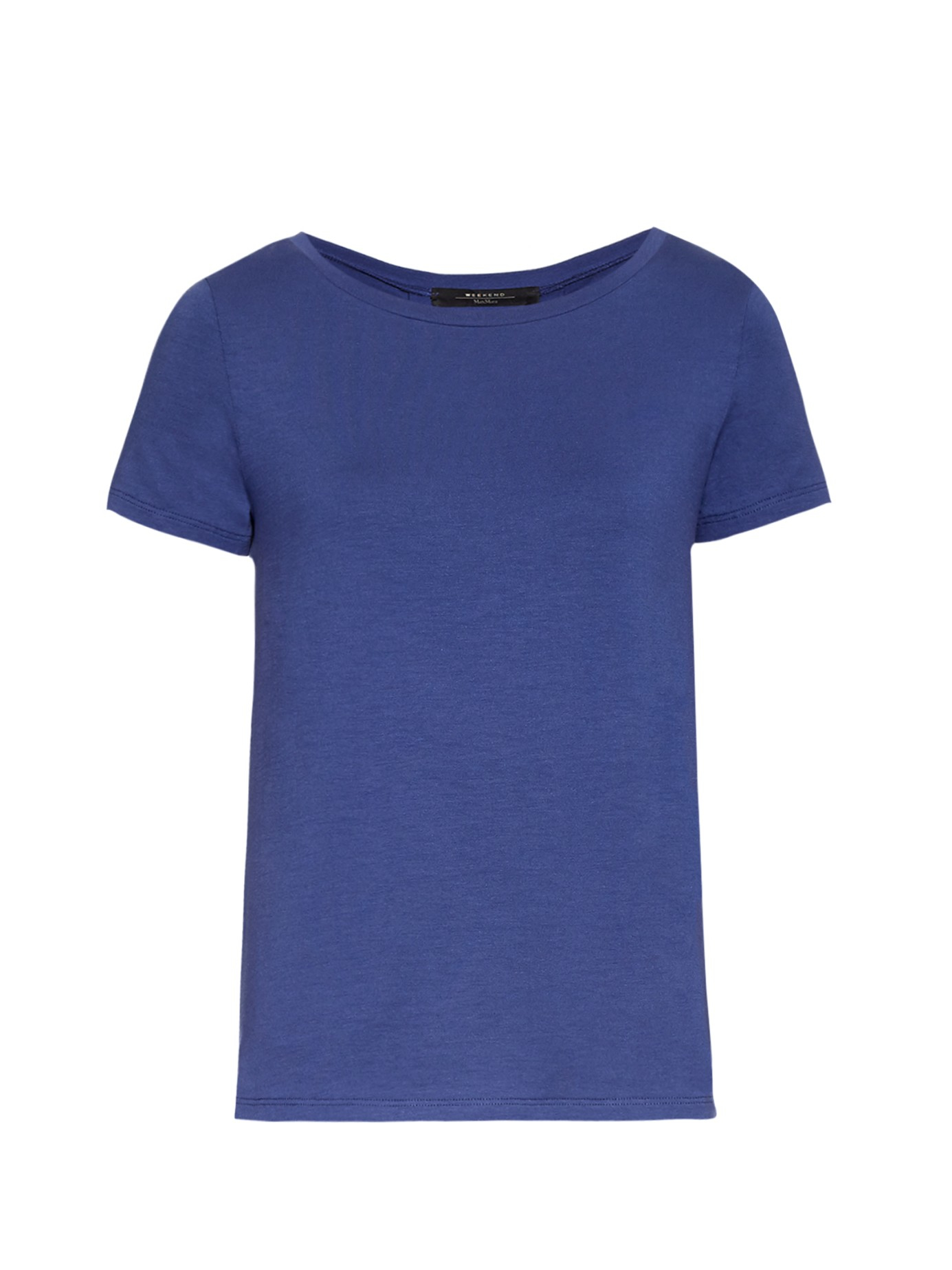 weekend by maxmara multi t shirt in blue lyst. Black Bedroom Furniture Sets. Home Design Ideas