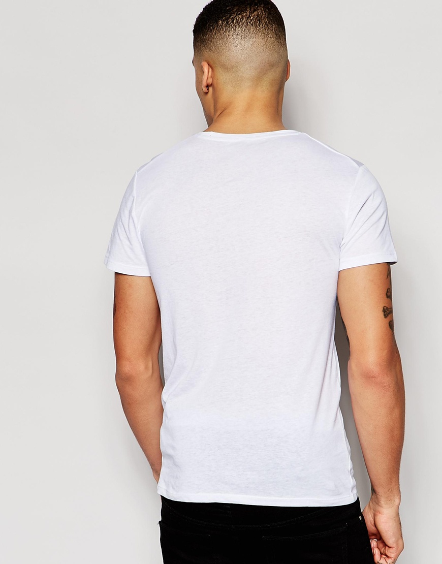 g star raw t shirt mikan basic small logo in white for men lyst. Black Bedroom Furniture Sets. Home Design Ideas