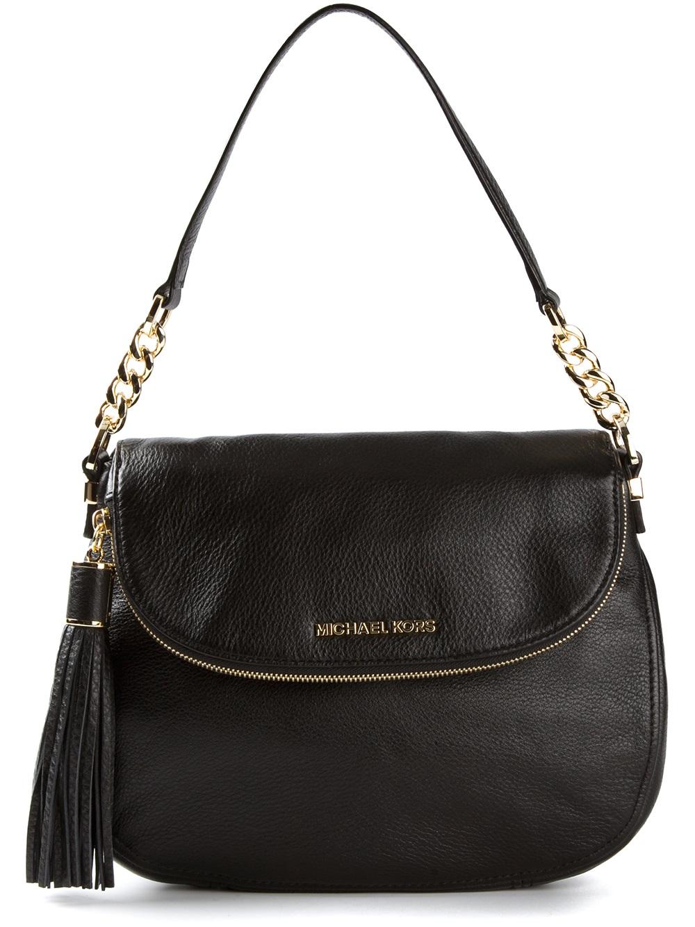 Lyst - Michael Kors Weston Shoulder Bag in Black