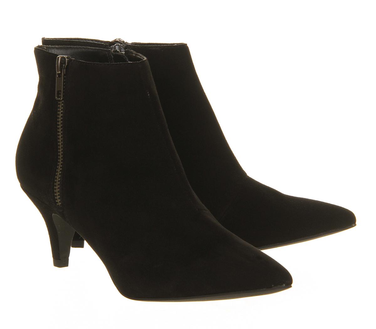 Office Go Go Kitten Heel Shoe Boots in Black   Lyst