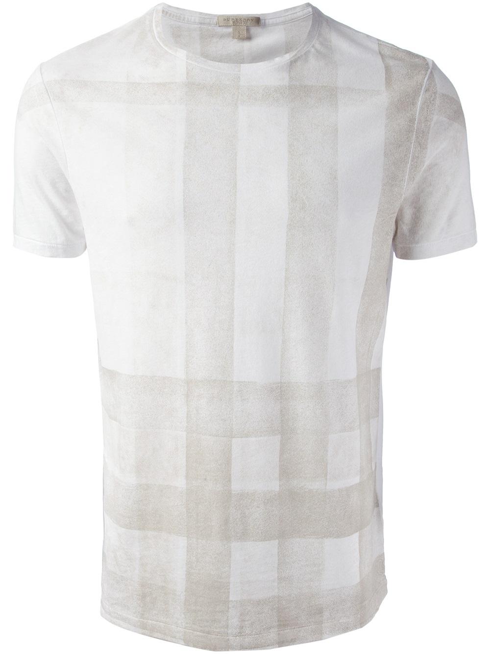 lyst burberry brit nova check tshirt in white for men. Black Bedroom Furniture Sets. Home Design Ideas