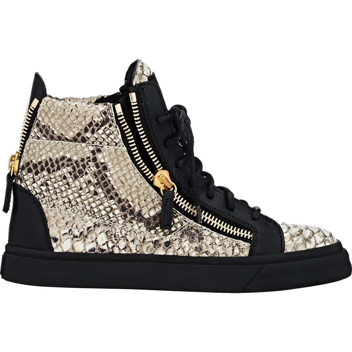 Giuseppe Zanotti Devon Snake-Effect High-Top Sneakers