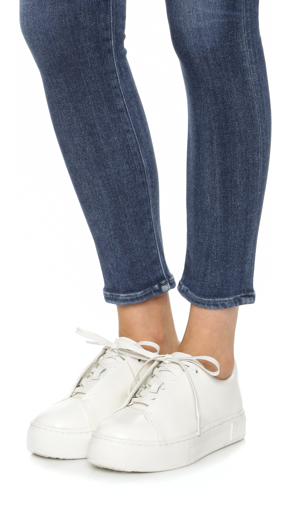 Eytys Doja Leather Sneakers in White - Lyst