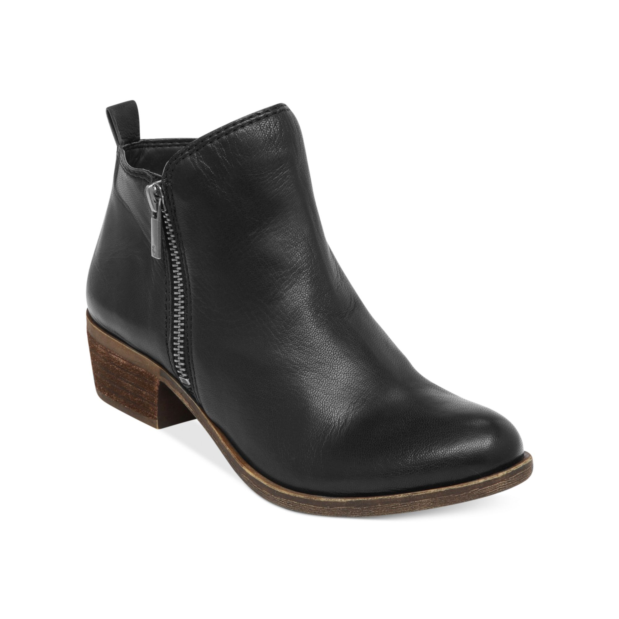 lucky brand s basel booties in black lyst