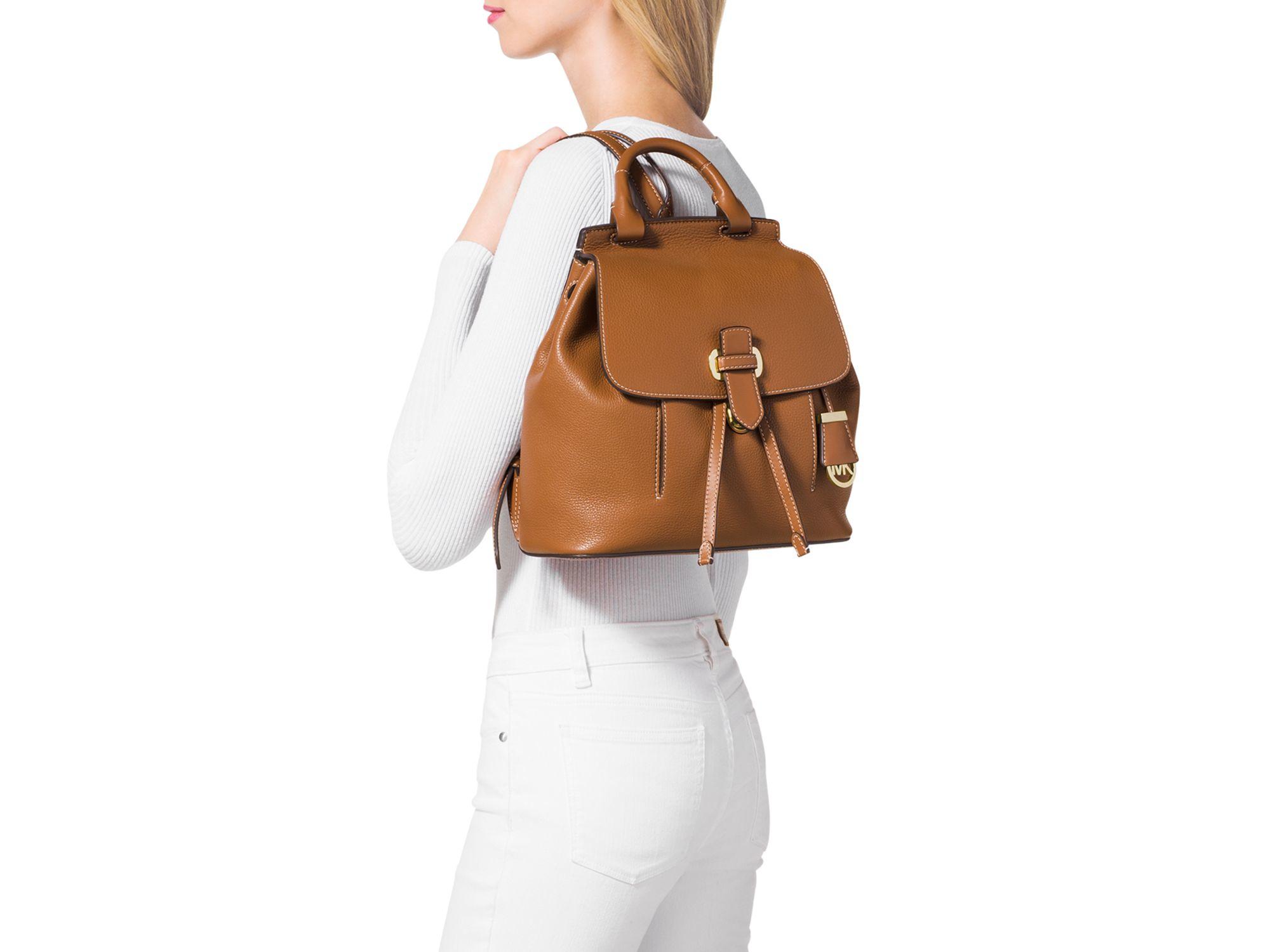 35a709833290 ... italy lyst michael michael kors medium romy backpack in brown 19a6d  cf7df