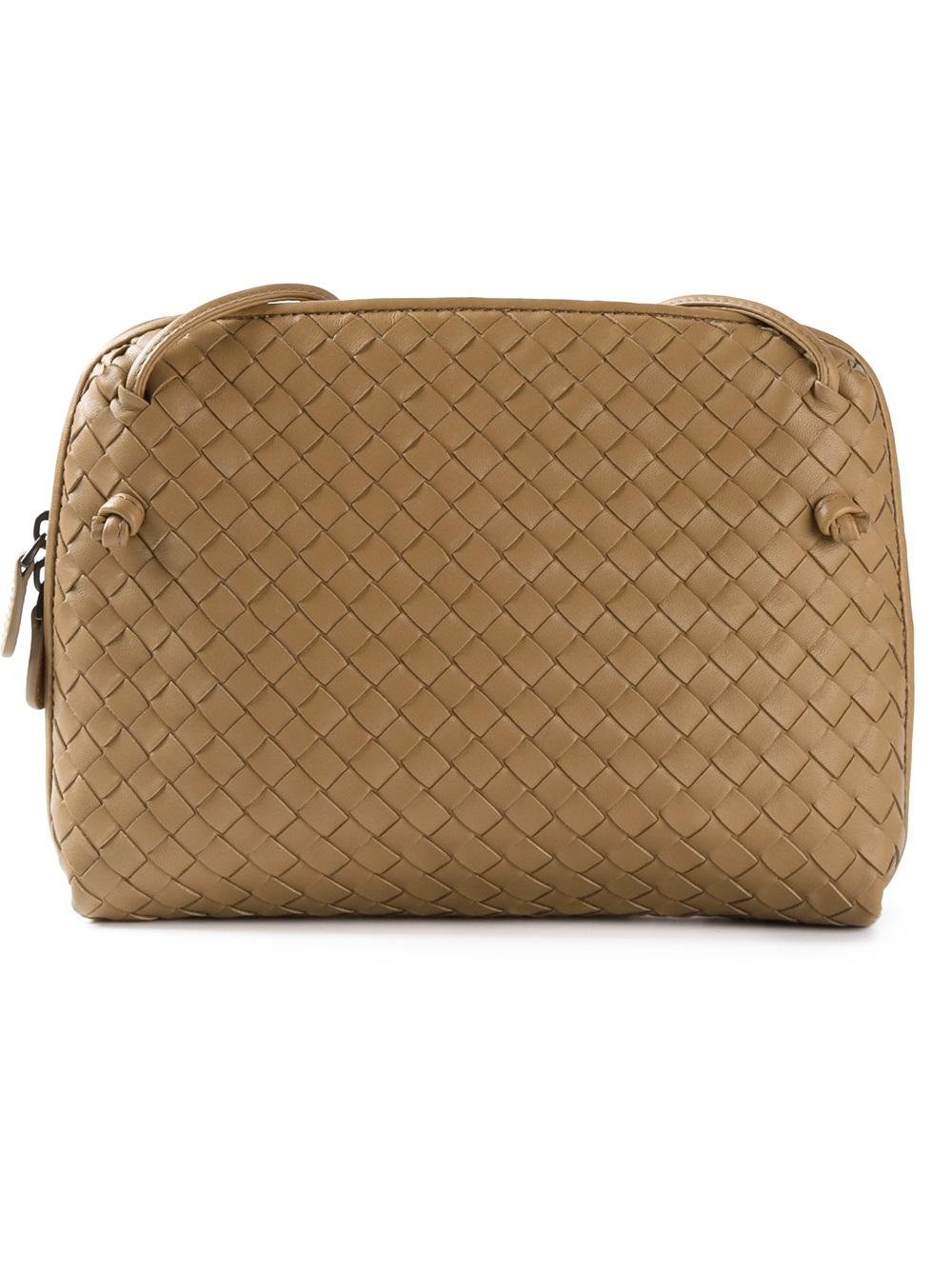 728f06599f9c Lyst - Bottega Veneta Woven Cross Body Bag in Brown