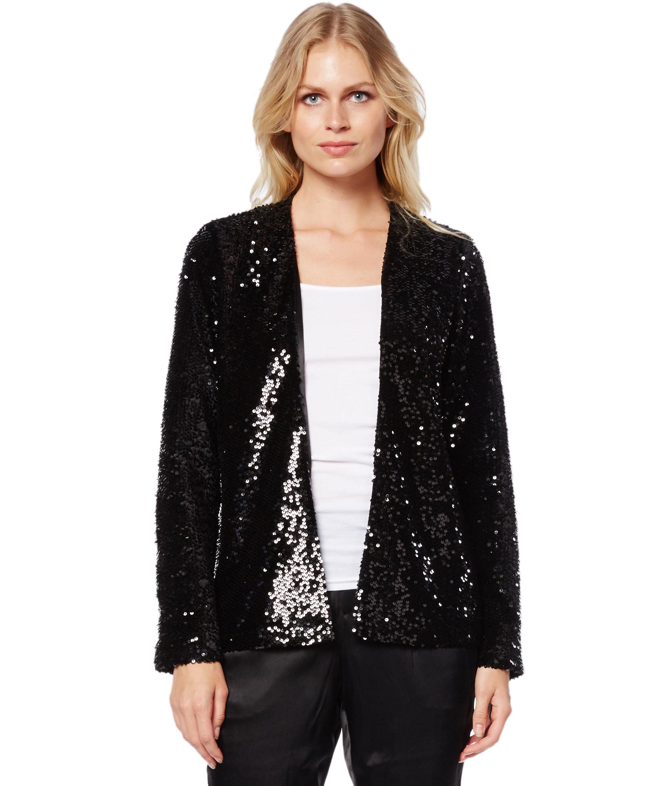 Michael Stars Long Sleeve Jacket In Black Lyst
