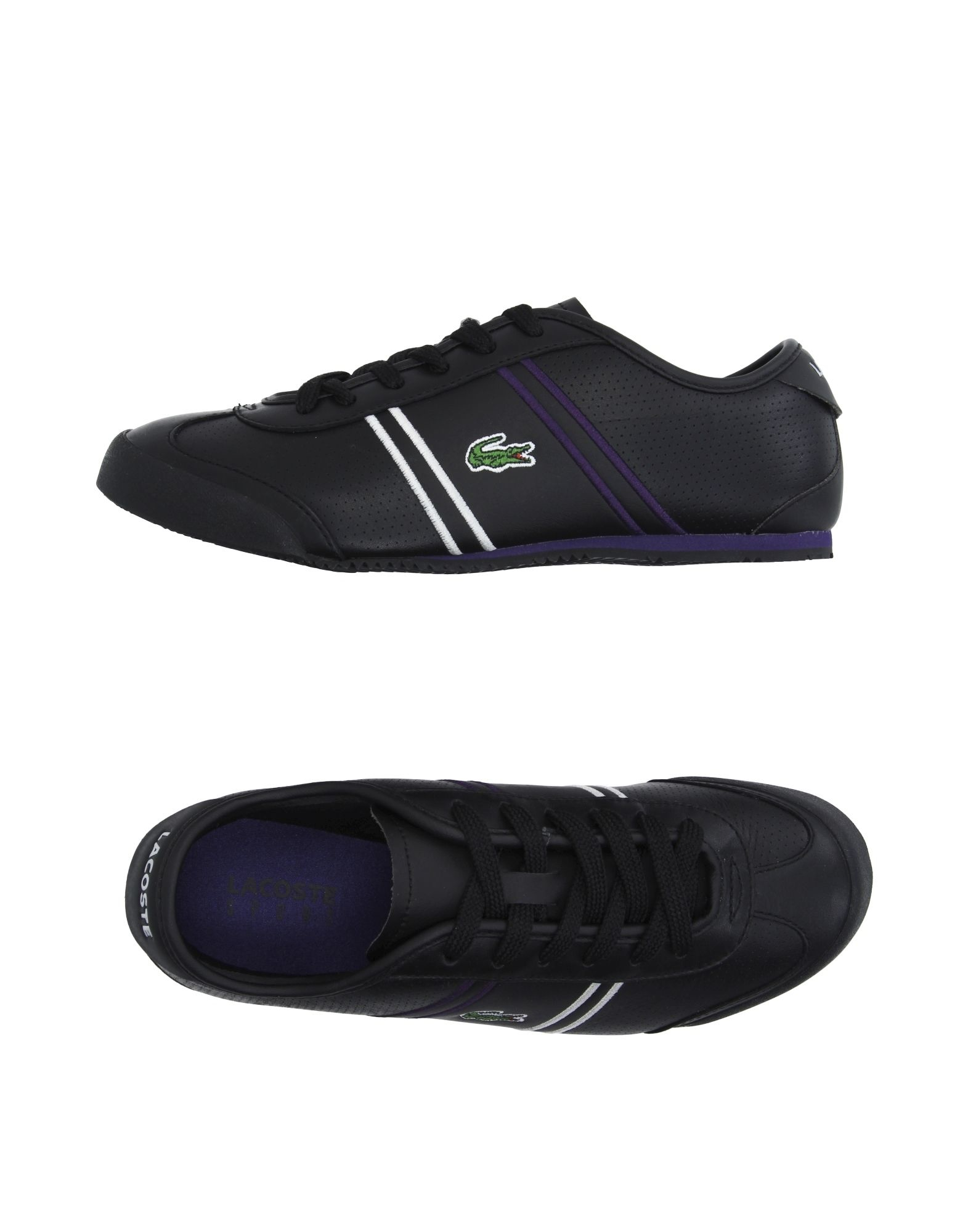 lacoste hightops amp trainers in black lyst