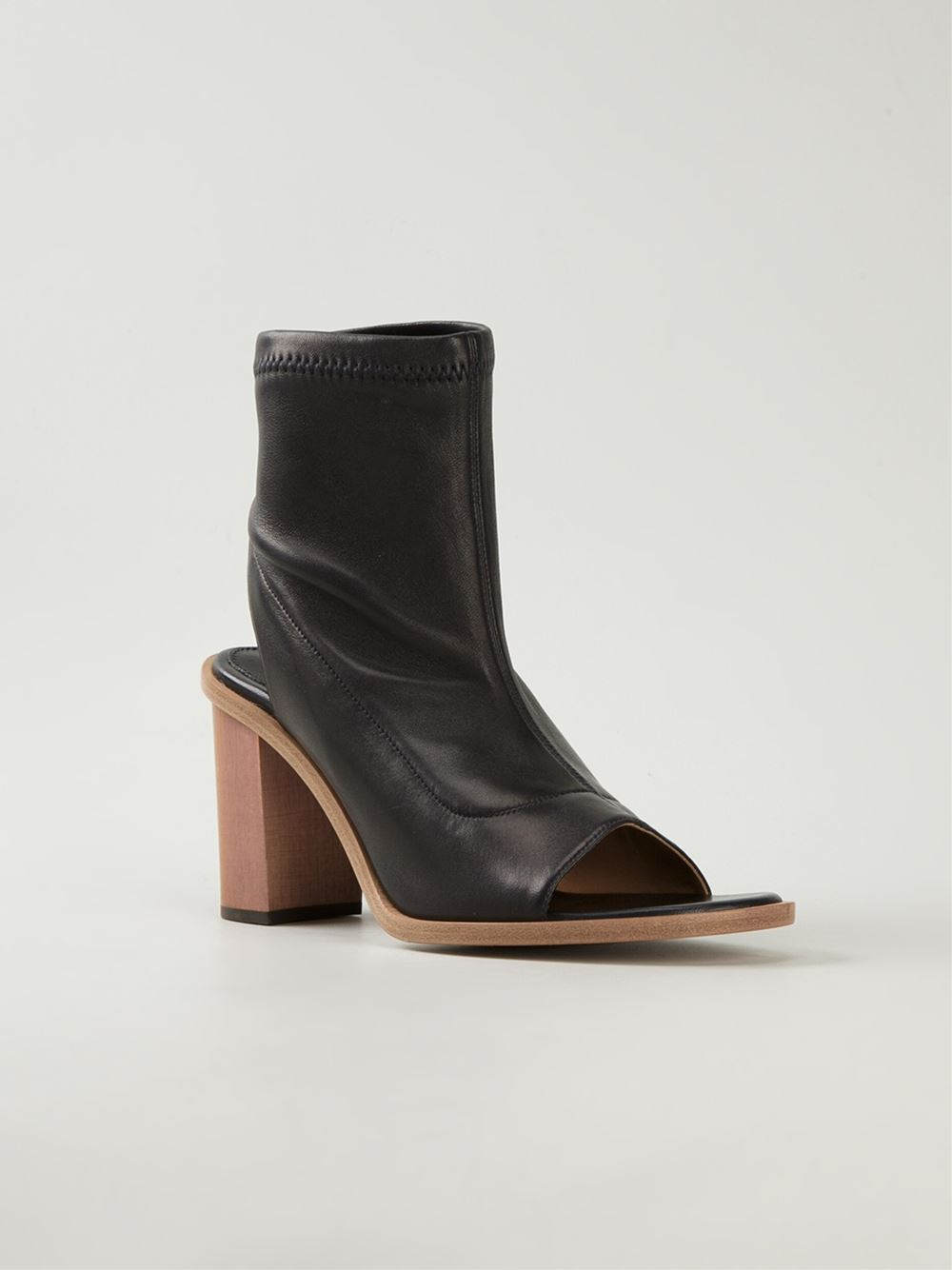 Chloé Leather Open Toe Boots BgRaUWm