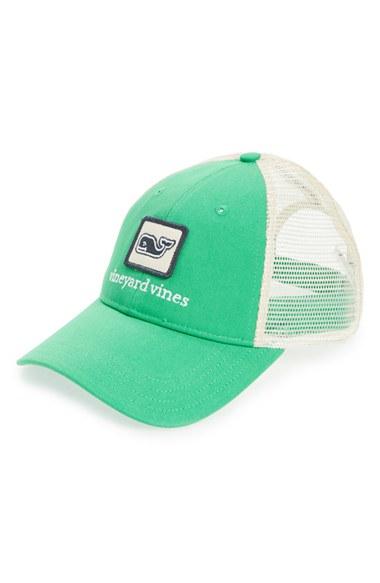 Lyst - Vineyard Vines Whale Patch Trucker Hat in Green for Men 63b00852e467