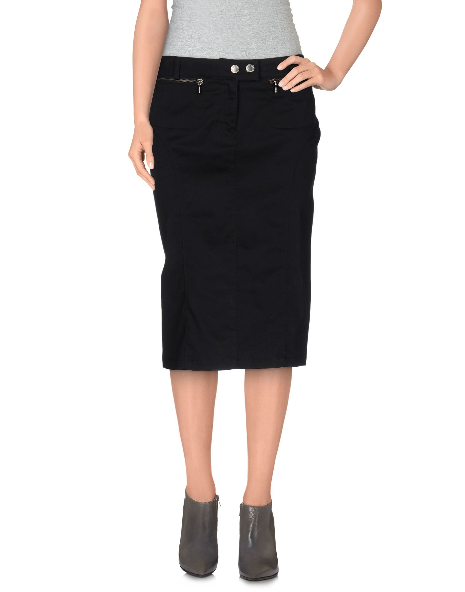 armani knee length skirt in black lyst