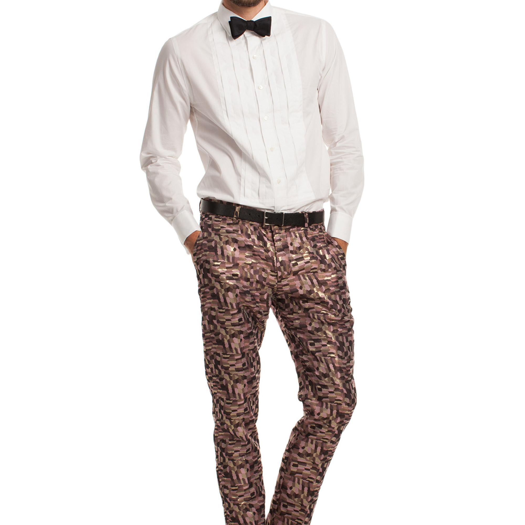 Mr Turk Mens Cuffed Cropped Trouser