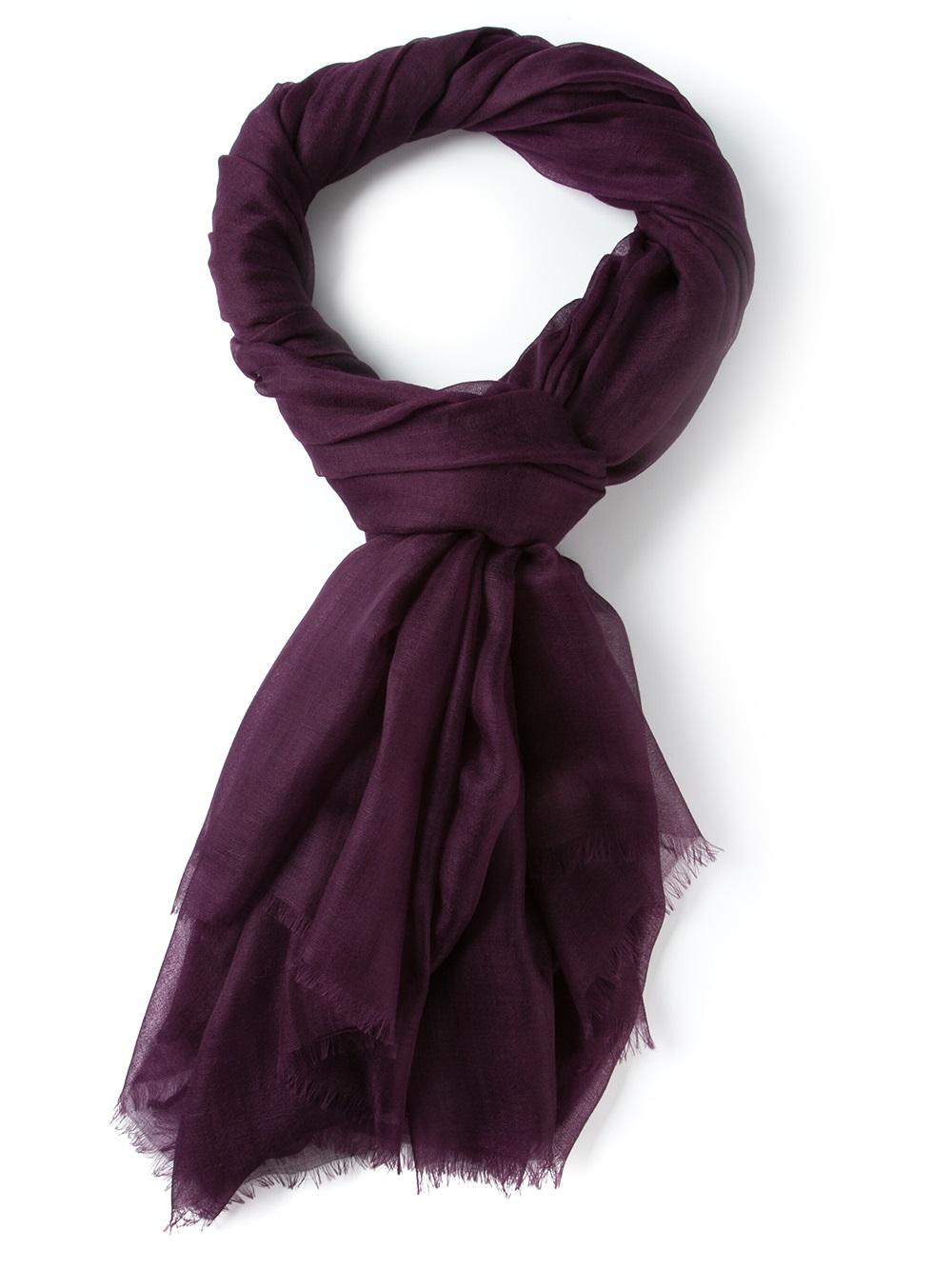 ferragamo knit scarf in purple pink purple lyst
