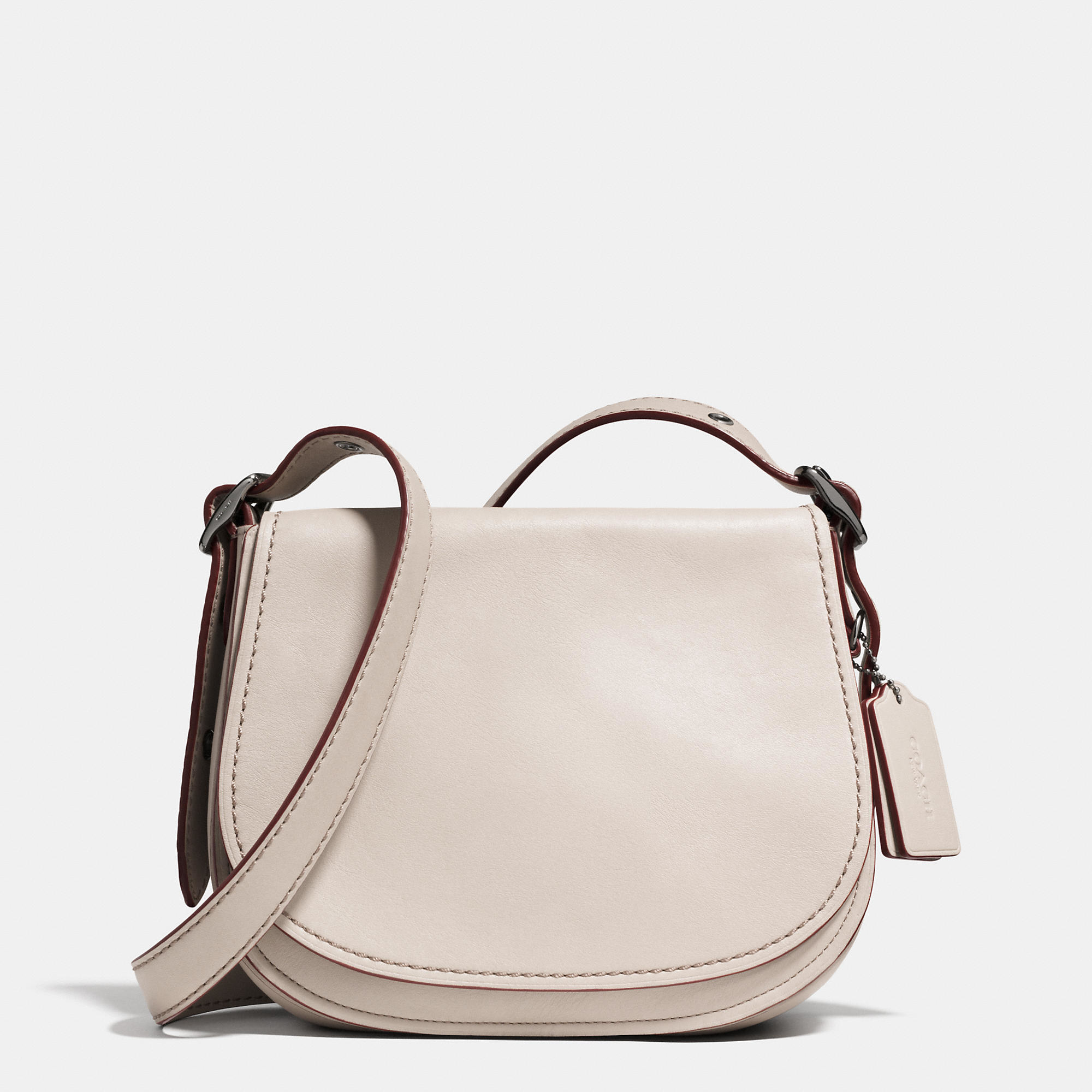 17a05187c21a Lyst - COACH Saddle Bag 23 In Glovetanned Leather in Natural
