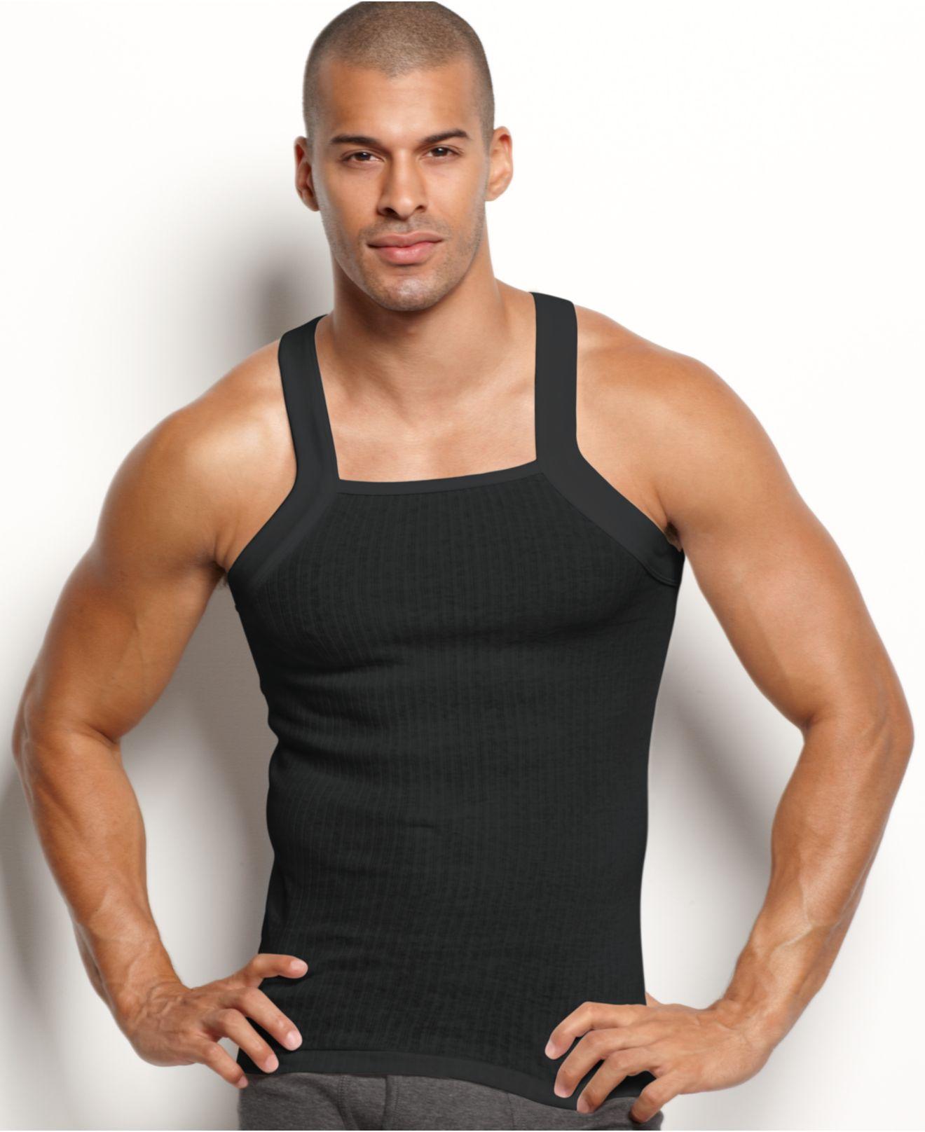2xist 2 x ist men 39 s underwear essentials tagless tank for Cut shirts for men