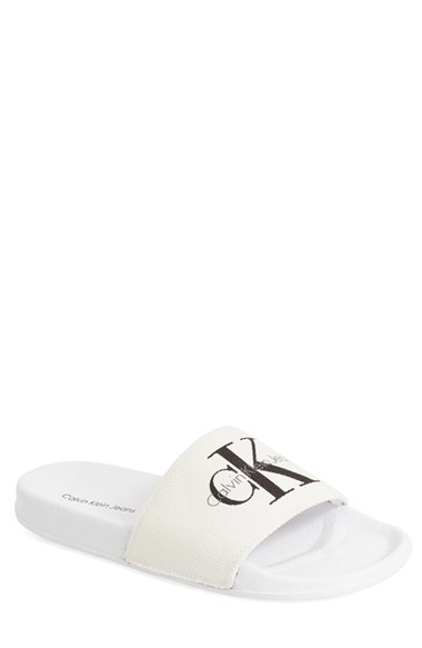 67a54d309419 Lyst - Calvin Klein  viggo  Slide Sandal in White for Men