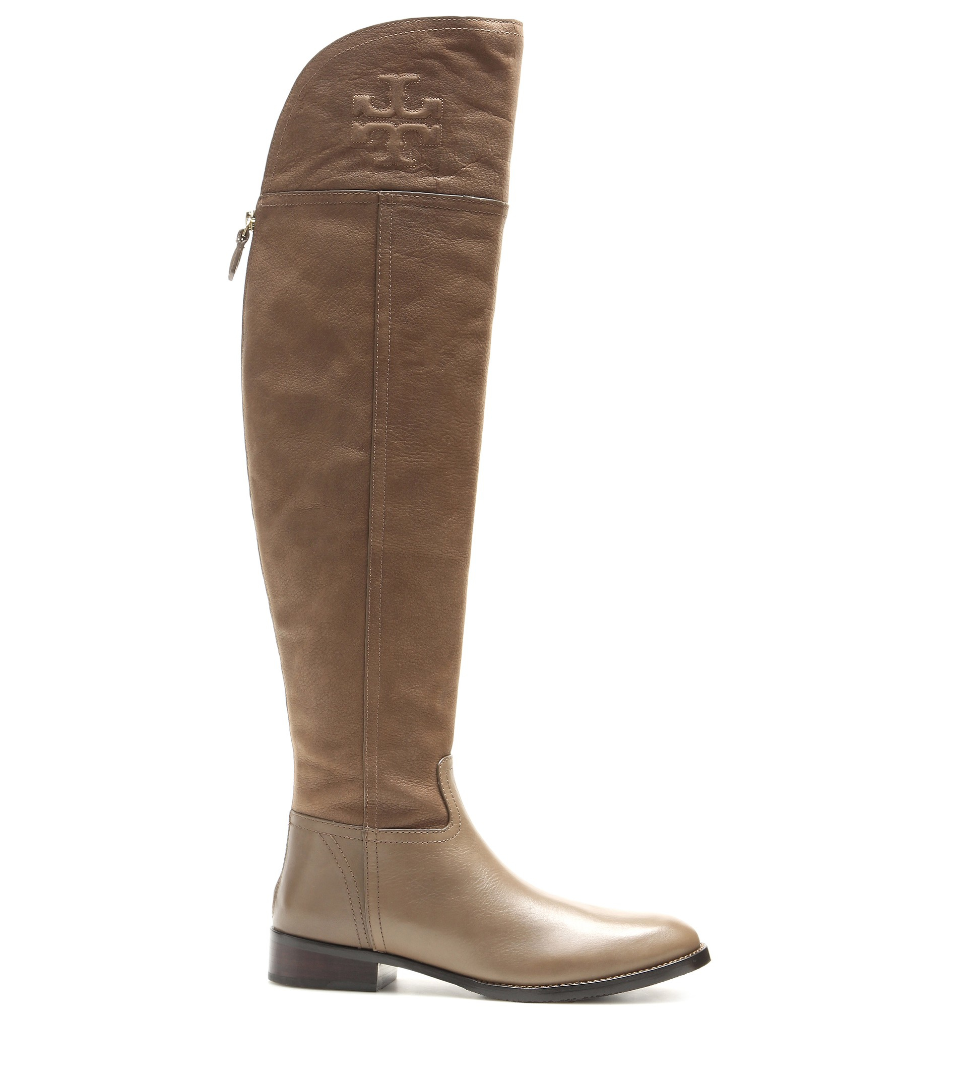 48fea9cc2836 Lyst - Tory Burch Simone Over-The-Knee Boots in Brown