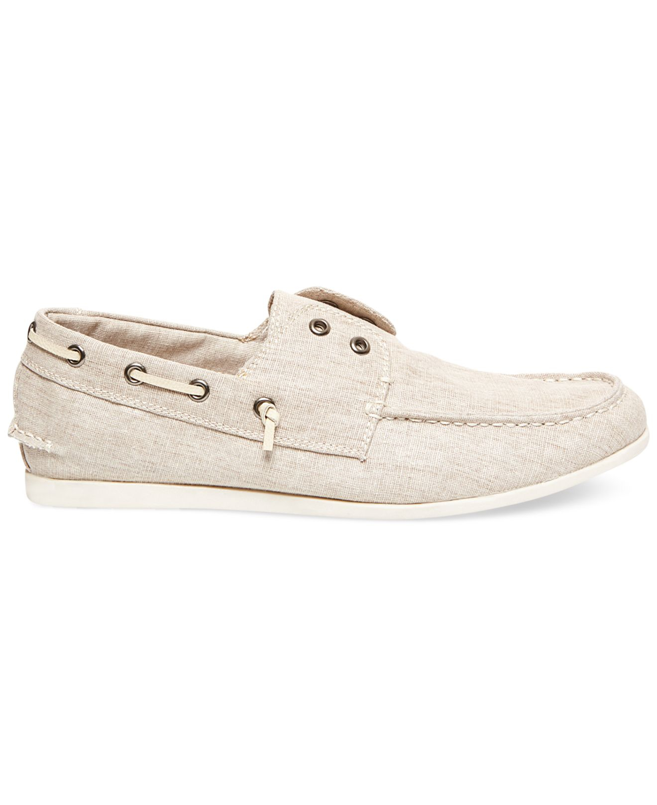7d457dcaf1b Lyst - Steve Madden Madden Glide Laceless Boat Shoes in Natural for Men