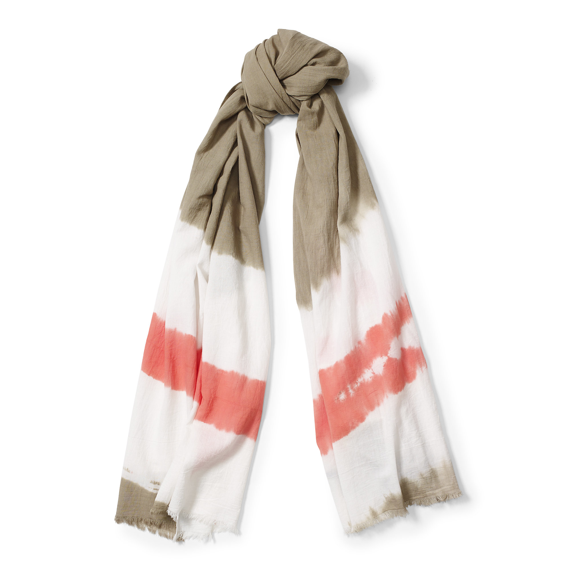 polo ralph tie dyed cotton twill scarf in green lyst