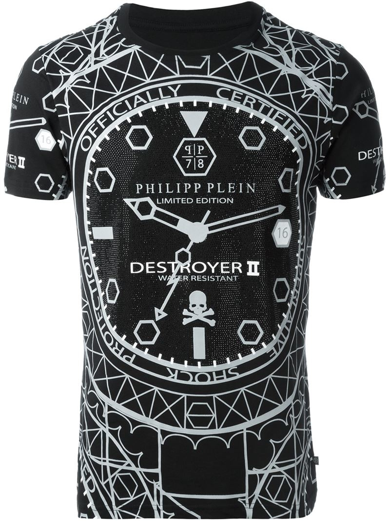 philipp plein destroyer t shirt in black for men lyst. Black Bedroom Furniture Sets. Home Design Ideas