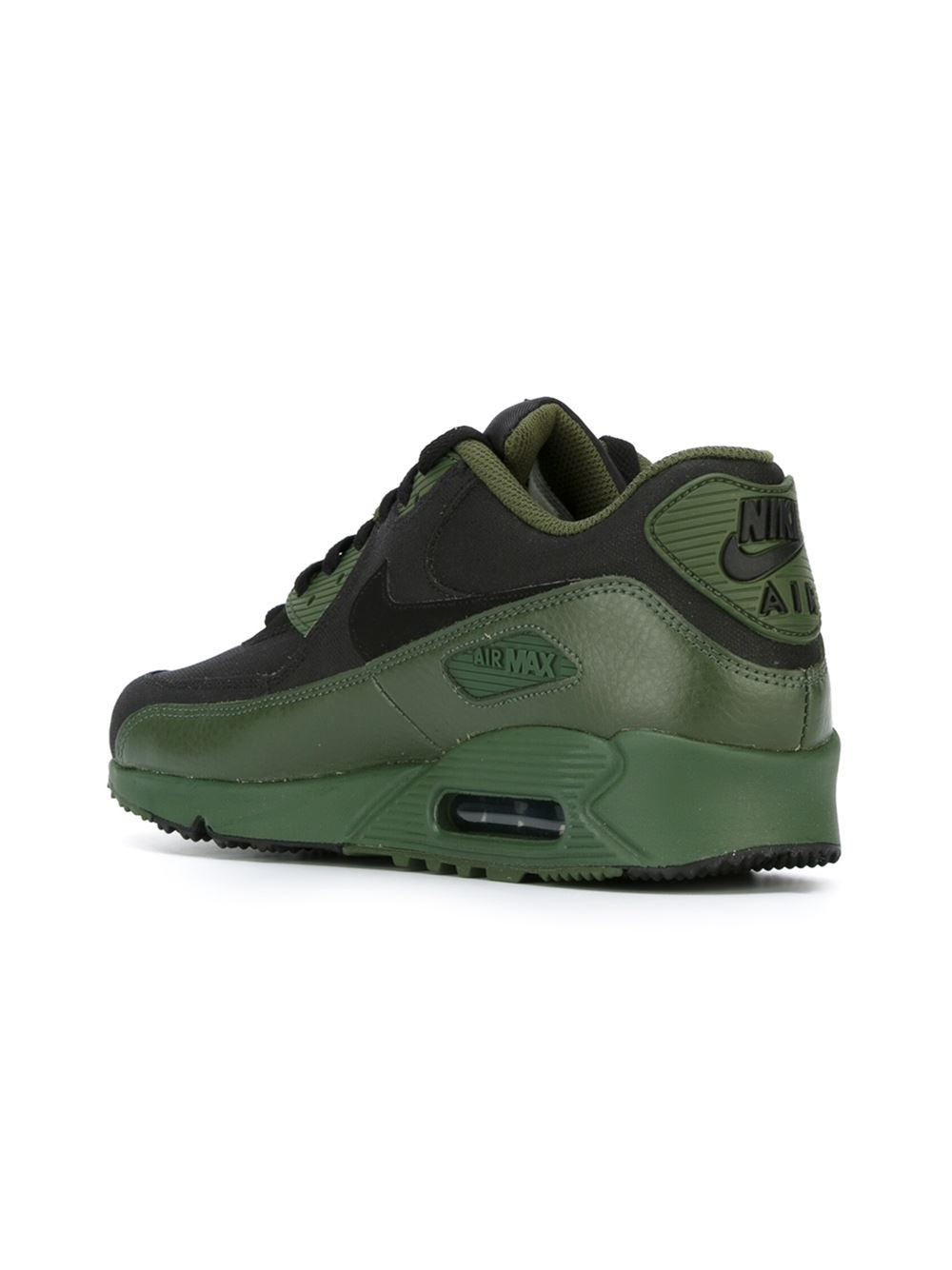 nike air max 90 winter premium low top sneakers in green. Black Bedroom Furniture Sets. Home Design Ideas